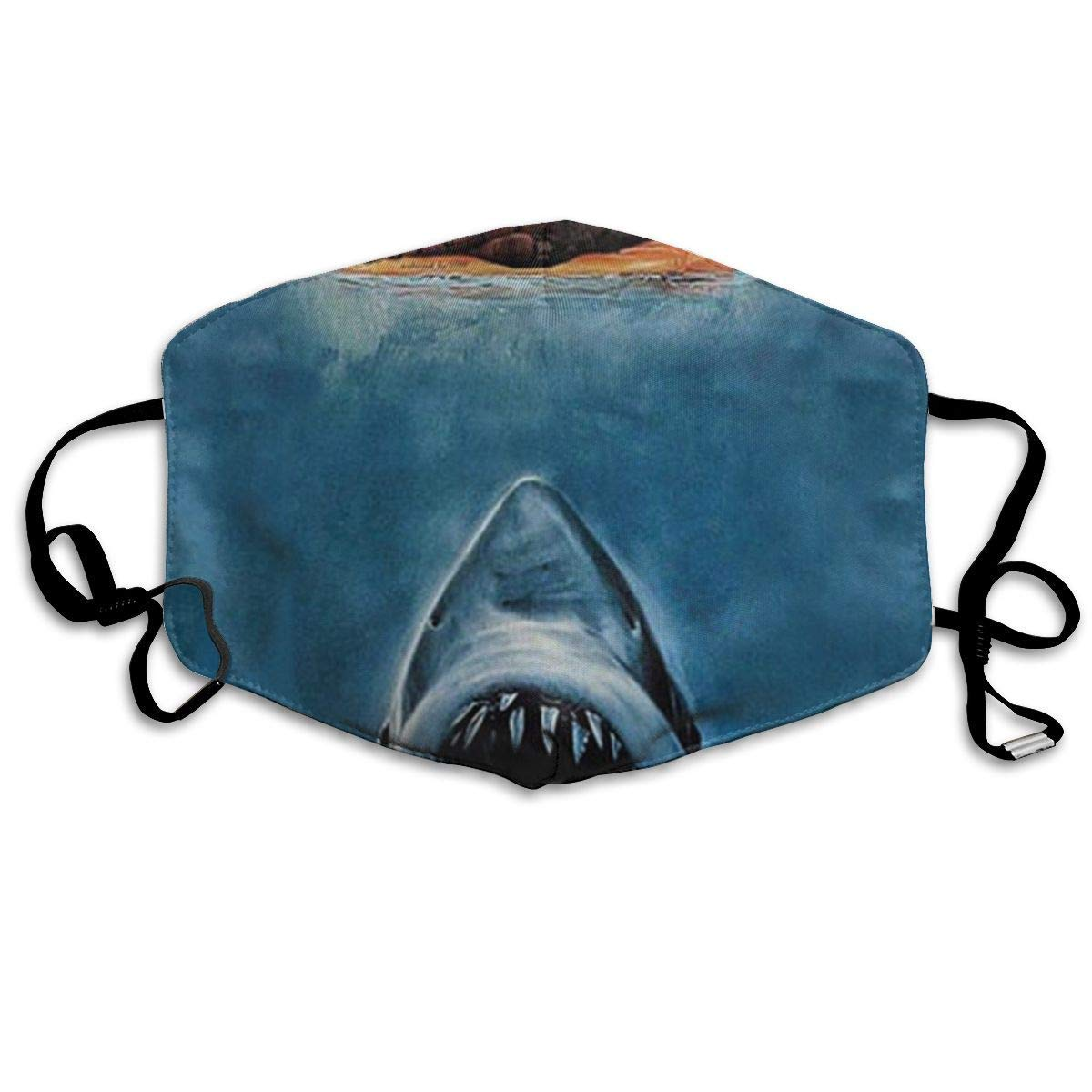 Vbnbvn Boca Máscara,Mascarillas,Máscaras bucales,Anti Dust Mask Shark Anti Pollution Washable Reusable Mouth Masks for Man Woman