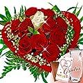 Rosenstrauß Romeo mit Vase & Merci Schokolade von FloraPrima bei Du und dein Garten