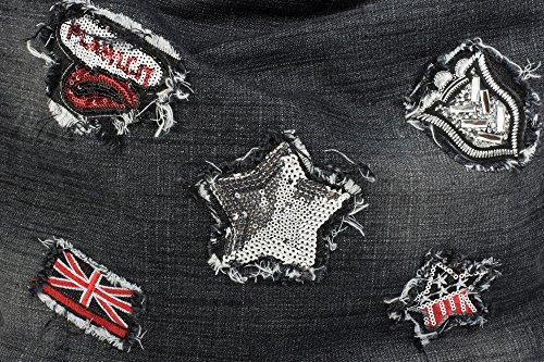 styleBREAKER, Borsa tote donna blu Blu scuro / argento taglia unica nero/nero