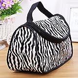 Zebra Kulturbeutel Make-up-Koffer, Reißverschluss Kosmetiktasche Kulturbeutel Make-up Tasche Hand Tasche mit Zebra Mustern