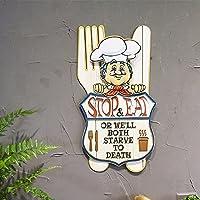 WITREE-Z Bügeleisen Kunst an der Wand restaurant Wand dreidimensionalen Charakter Chef an der Wand Bäckerei Wandschmuck, yy 51258 ein