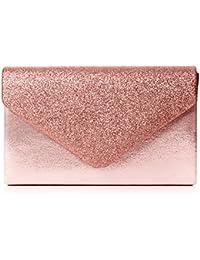 Swankyswans Kelly Glitter Envelope Clutch Bag Party Prom Bag, Sac