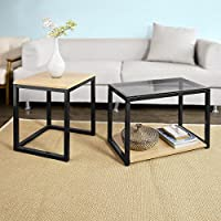 SoBuy FBT35-Sch Tables Basses Gigognes - Set DE 2