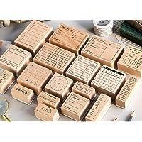 NBEADS 70 pz Mini Timbri in Legno Francobolli con Simboli di Lettere E Numeri con Scatola di Immagazzinaggio per Creazione E Creazione di Carte per Artigianato Fai-da-Te