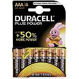 Duracell Plus, lot de 8 piles alcalines Type AAA 1,5 Volts LR03 MN2400