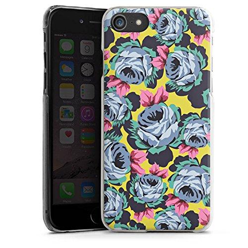 Apple iPhone X Silikon Hülle Case Schutzhülle Rosen Blumen Muster Hard Case transparent