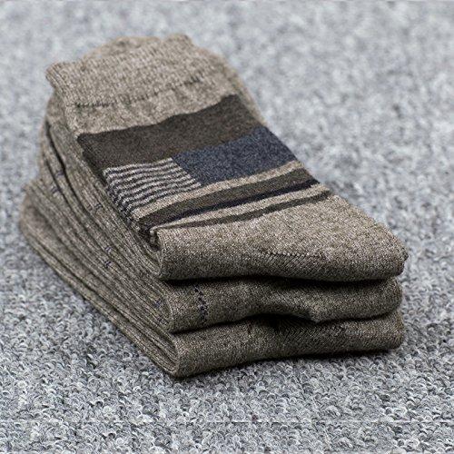 Dicke Wollsocken_Kaschmir Wollsocken neuen dicken Wollsocken warme Socken Männer und Frauen leger elegante Wolle, (3 Paar) schwarz,