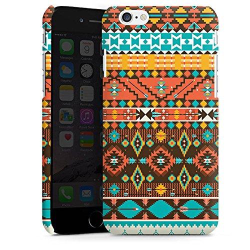 Apple iPhone 5s Housse Étui Protection Coque Rétro Ethnique Motif Aztèques Cas Premium mat