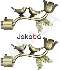 Jakaba Antique Brass Curtain Finials (Without Supports) - Pack Of 2 Pcs (Finials 1 Pair) : Curtain Brackets Set/Holders - Jkbatx91301_Wos