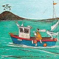 "Sam Toft WDC95564 ""Searching For The Legendary Sea Pasty"" Canvas Print, Cotton, Multi-Colour, 3.20 x 40.00 x 40.00 cm"