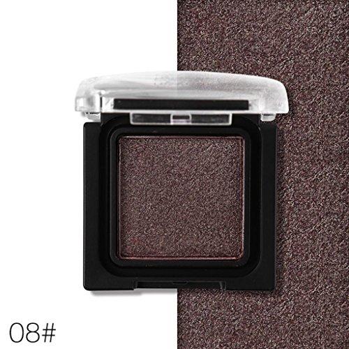 Monochrome Lidschatten, Sansee Schimmer Glitter Augen Schatten Pulver Palette Matte Lidschatten Kosmetik (ALUC105, # H)