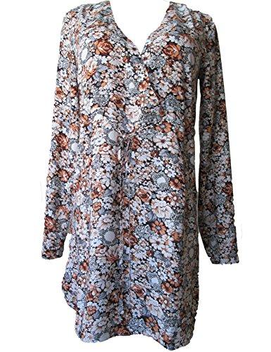 GloriousCotSilk -  Vestito  - linea ad a - Maniche lunghe  - Donna Red 36