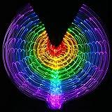 mit verstellbarem stick frauen bauchtanz 5 farbe led licht glühend isis flügel 360 grad große schmetterling stützen leistung professionelle outfit kostüm . 1# . adult