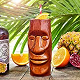 bar@drinkstuff Bicchiere, tazza da cocktail Tiki Hawaiian Isola di Pasqua, 415 ml, in ceramica di qualità,