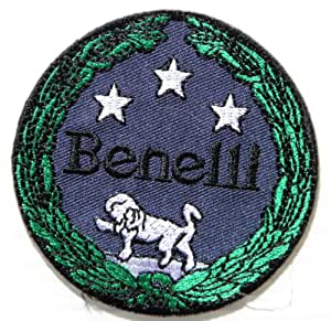 """Benelli TNT Motorcycles MotorBike Logo Jacket T-shirt Patch Sew Iron on Embroidered Badge Emblem Sign Size 3""""Width x 3""""Height"""