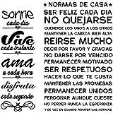 VINFUTUR Pegatinas Pared Decorativas Frases Español, 2 Juego de Pegatinas Citas Inspiradoras Vinilos Pared Frases Positivas M
