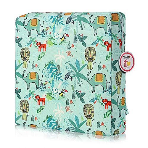 Zicac Sitzerhöhung Baby Tragbar Sitzkissen Cartoon Design für Kinder (Hellgrün)