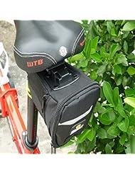 Bazaar Sac étanche de selle de vélo noire de sac du siège arrière de vélo en plein air