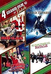 Idea Regalo - 4 Grandi Film Di Natale (4 Dvd): Fred Claus - Un fratello sotto l'albero/Polar Express/ Willy Wonka e la fabbrica di cioccolato/ Mi sono perso il Natale