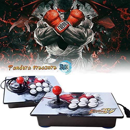 HLLGAME 3D Pandora's Box Home Arcade Game Console Konsole, 3160 Classic-Spiele Joystick Spielkonsole, Kundenbezogene Schaltflächen, 1280x720 Full HD, Unterstützt PS3, HDMI und VGA Ausgang, QC08