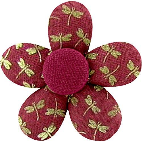 Papa pique maman coud y pequeña Barrette mini-fleur Libellule mini rubis Talla única