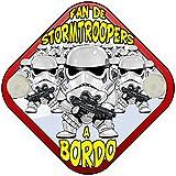 Placa bebé a bordo fan de Star Wars a bordo Stormtroopers