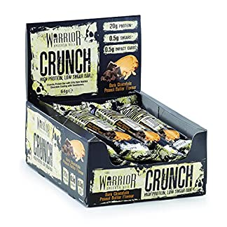 Warrior Crunch High Protein Low Carb Bar, 64 g, Pack of 12 1
