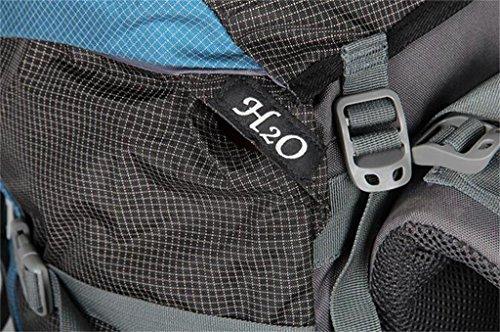 pacchetto di arrampicata all'aperto 55L + 10L borsa zaino trekking viaggio grande capacità di carico professionale ( Colore : Blu , dimensioni : 55+10L ) Blu