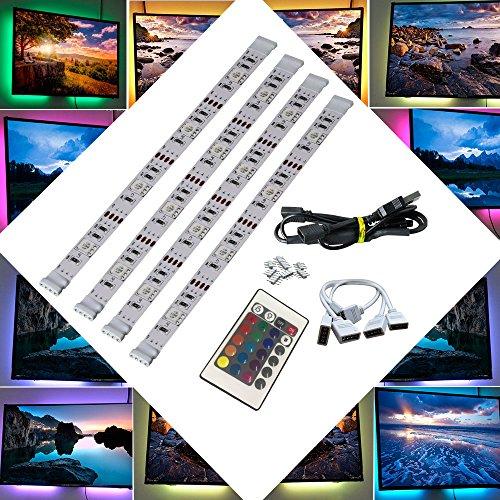 BRTLX LED TV Contraluz Tiras Iluminación Kits 4x50cm para HDTV Teatro de...