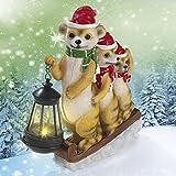 LED Navidad iluminación solar suricato 2017con farol Blanco Cálido (pintadas a mano) con sensor de luz diurna–Ideal para el jardín, terraza, ventanas, banco o bajo el árbol de Navidad