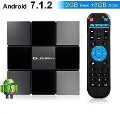 Globmall ABOX 2018 TV-Box Android 7.1 X3 2 GB RAM 8 GB ROM Quad-Core-CPU Penta-Core GPU HDMI 2.0 4K H.265 Wifi Box Smart TV