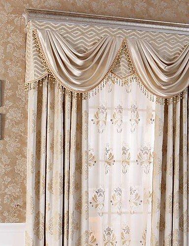 ZQ (Zwei Platten) Traditionelle reine Kunstseide Chenille Energiesparend Jacquard-Vorhang (Bordüre Blumen und nicht im Lieferumfang enthalten)...