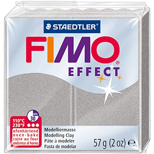 Fimo Effect Polymer Clay 2oz-Light Silver Pearl