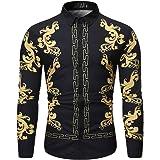 NLZQ Men's Shirt Long Sleeve Lapel Poplin Casual Shirt Formal Shirt Button Down Work Shirts Spring and Autumn New Comfortable
