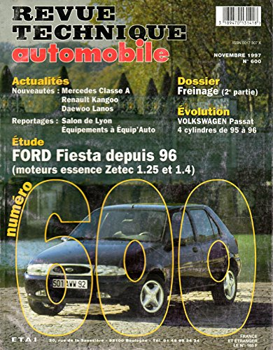 revue technique automobile n 600 ford fiesta depuis 1996 essence zetec et 1 4. Black Bedroom Furniture Sets. Home Design Ideas