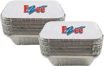 Ezee Silver Aluminium Foil Container - 250 ml (50 Pieces)