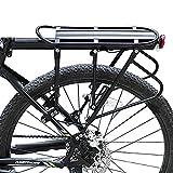 West Biking Fahrradträger Rack Universal verstellbar Bike Gepäck Cargo Rack 180kg Kapazität (2Styles, Schwarz), Herren Kinder damen, a