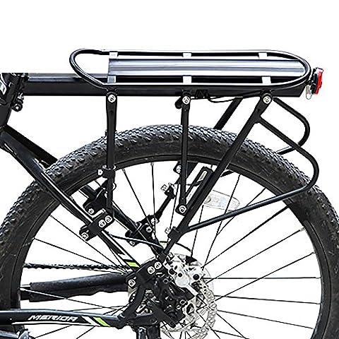 West Biking Porte-vélo Rack universel réglable Vélo bagages Cargo de capacité de 180kg (2styles, Noir), Homme Enfant femme, a