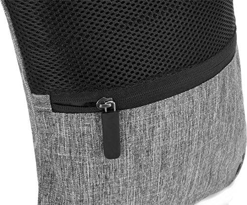 Freizeittasche Businesstasche Umhängetasche Dokumententasche 600 D Polyester Graumeliert Grau