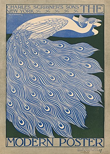 "WILL BRADLEY \""Das moderne Plakat\"" 1895. 250 g/m², glänzend, Kunstdruck, A3, Reproduktion"