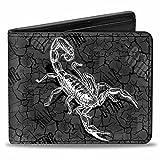 Buckle Down Men's Wallet Sting Scorpion + The Stinger Crackles Grays/black/whi Bi-Fold, Multi