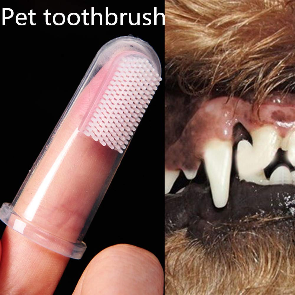 Gaddrt 5cm Super Soft Pet Finger Toothbrush Teddy Dog Brush Bad Breath Tartar Teeth Care Dog Cat Cleaning Supplies