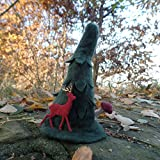 Tannenbaum auf Filz mit Pilz und Reh