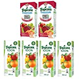 #2: Tropicana Juice, Mixed Fruit, 200ml (Pack of 4) with Essentials Fruits and Veggies, 200ml (Pack of 2)