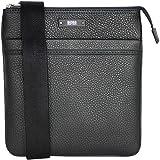 BOSS Hugo Boss Leather Traveler_S Zip Bag Black One Size