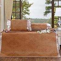 Preisvergleich für Coole Matratze Dreiteiliges Set faltbare Sommermatten Sommermatte Sitze einzelne coole Matten Farbe 1.8m Bett (6 Fuß) Coole Bambusmatte ( größe : 1.8m )