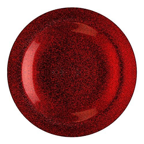 Chargeur de Noël en Verre métallique de qualité Rouge 33 cm