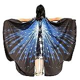 OSYARD Kind Kinder Jungen Mädchen Karneval Schmetterlingsflügel Kostüm Faschingskostüme, Butterfly Wing Cape Kimono Flügel Schal Cape Tuch Pixie Poncho Kostümzubehör für Show und Party