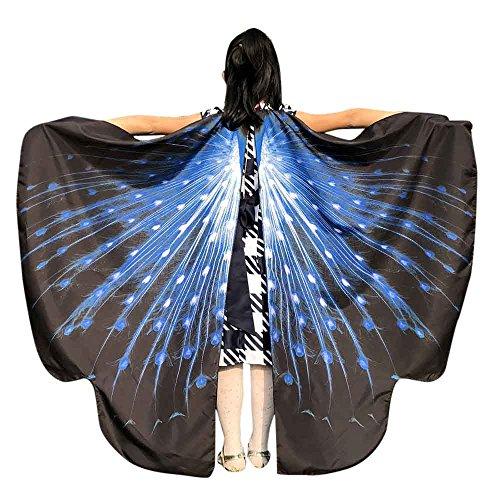 Standorte Kostüm - Faschingskostüme Schmetterling Schal Kinder Kostüm Schmetterlingsflügel Pixie Halloween Cosplay Schmetterlingsf Butterfly Wings Flügel LMMVP (Blau Größe: 136 * 108CM)