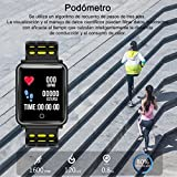 AURSEN-Fitness-TrackerIP68-Waterproof-Smart-Activity-Tracker-with-Heart-Rate-Monitor-Blood-Pressure-Monitor-Sleep-Monitor-Steps-and-Calorie-Counter-Smart-Message-Reminder-for-iOS-Android-Smartphone